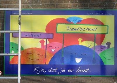 StoryArt Schoolproject Kunstwerk Schoolplein