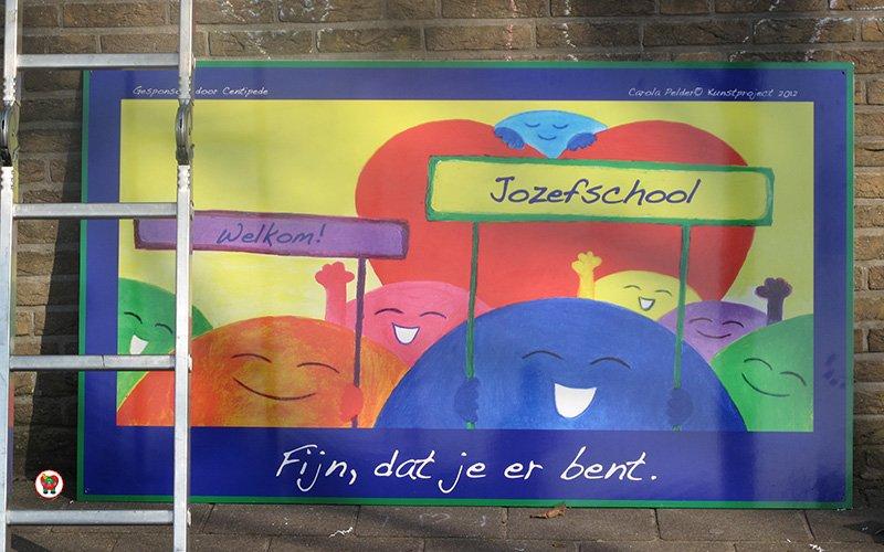 Kunstwerk Schoolplein – Wij willen spelen